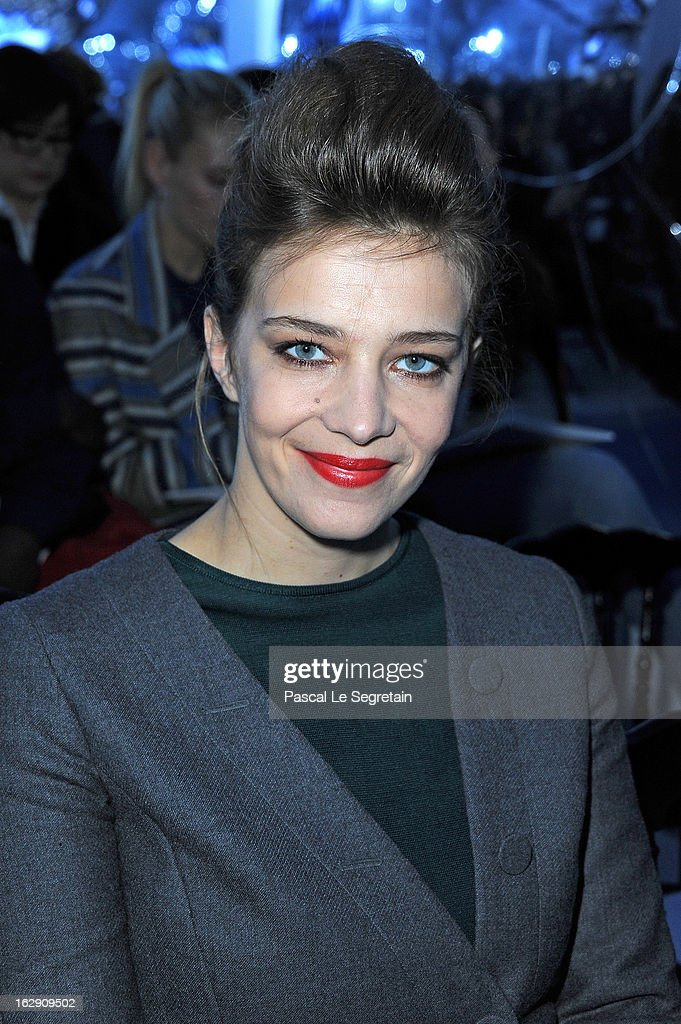 Celine Sallette attends the Christian Dior Fall/Winter 2013 Ready-to-Wear show as part of Paris Fashion Week on March 1, 2013 in Paris, France.