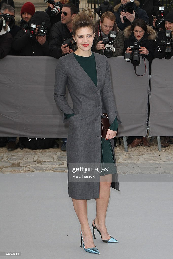 Celine Sallette attends the 'Christian Dior' Fall/Winter 2013 Ready-to-Wear show as part of Paris Fashion Week on March 1, 2013 in Paris, France.