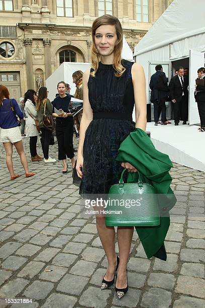 Celine Sallette attends the Louis Vuitton Spring/Summer 2013 show as part of Paris Fashion Week on October 3 2012 in Paris France