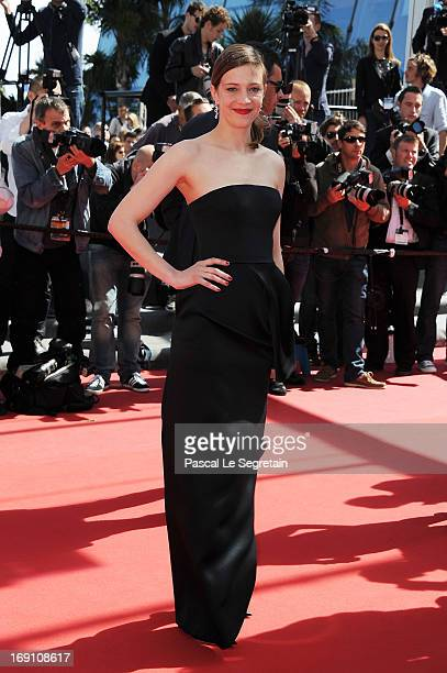 Celine Sallette attends the premiere for 'Un Chateau en Italie' during the 66th Annual Cannes Film Festival at Palais des Festivals on May 20 2013 in...