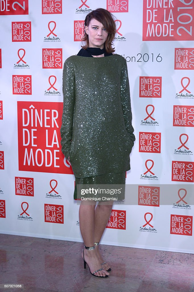 Celine Sallette attends the Sidaction Gala Dinner 2016 as part of Paris Fashion Week on January 28, 2016 in Paris, France.