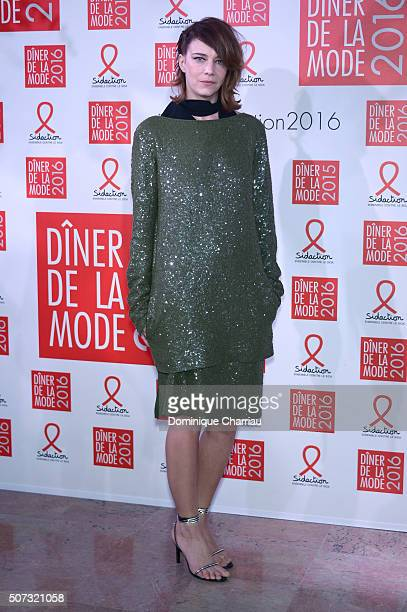 Celine Sallette attends the Sidaction Gala Dinner 2016 as part of Paris Fashion Week on January 28 2016 in Paris France