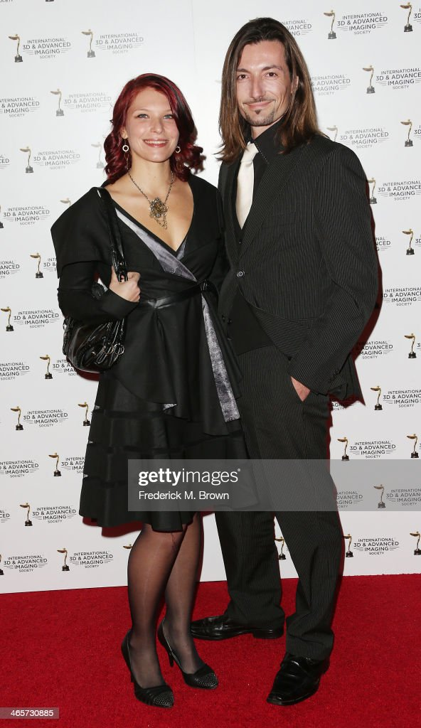 Celine Tricart (L) and her guest attend the 2014 International 3D and Advanced Imaging Society's Creative Arts Awards at the Steven J. Ross Theatre, Warner Bros. Studios on January 28, 2014 in Burbank, California.