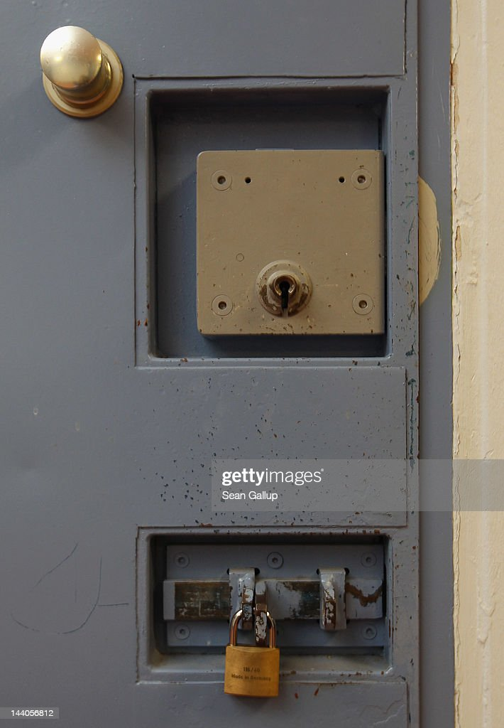A cell door stands locked at the expanded youth arrest facility in Lichtenrade district on May 9, 2012 in Berlin, Germany. The facility, whose capacity is now nearly doubled, accomodates young men and women first-time offenders for short periods of time with the intent of giving them an impression of what prison is like yet to also give them a second chance at returning to freedom.