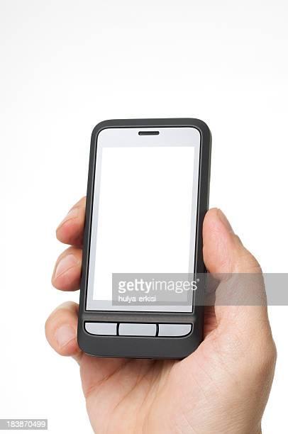 Handy in der hand