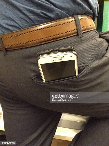 Cell phone in back pant pocket