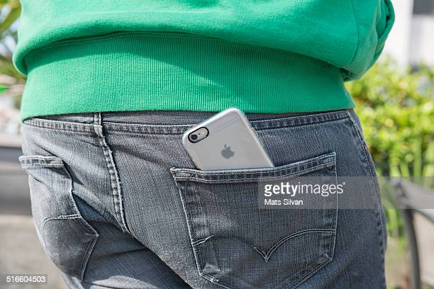 Cell Phone in the back pocket