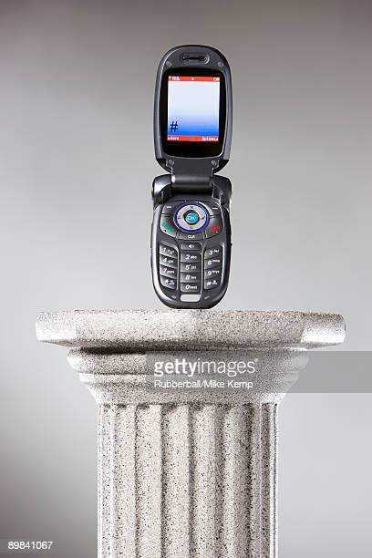 cell phone on a pedestal