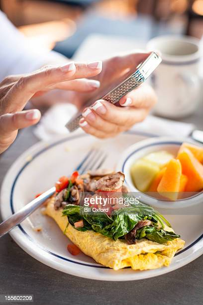 Cell phone with Breakfast
