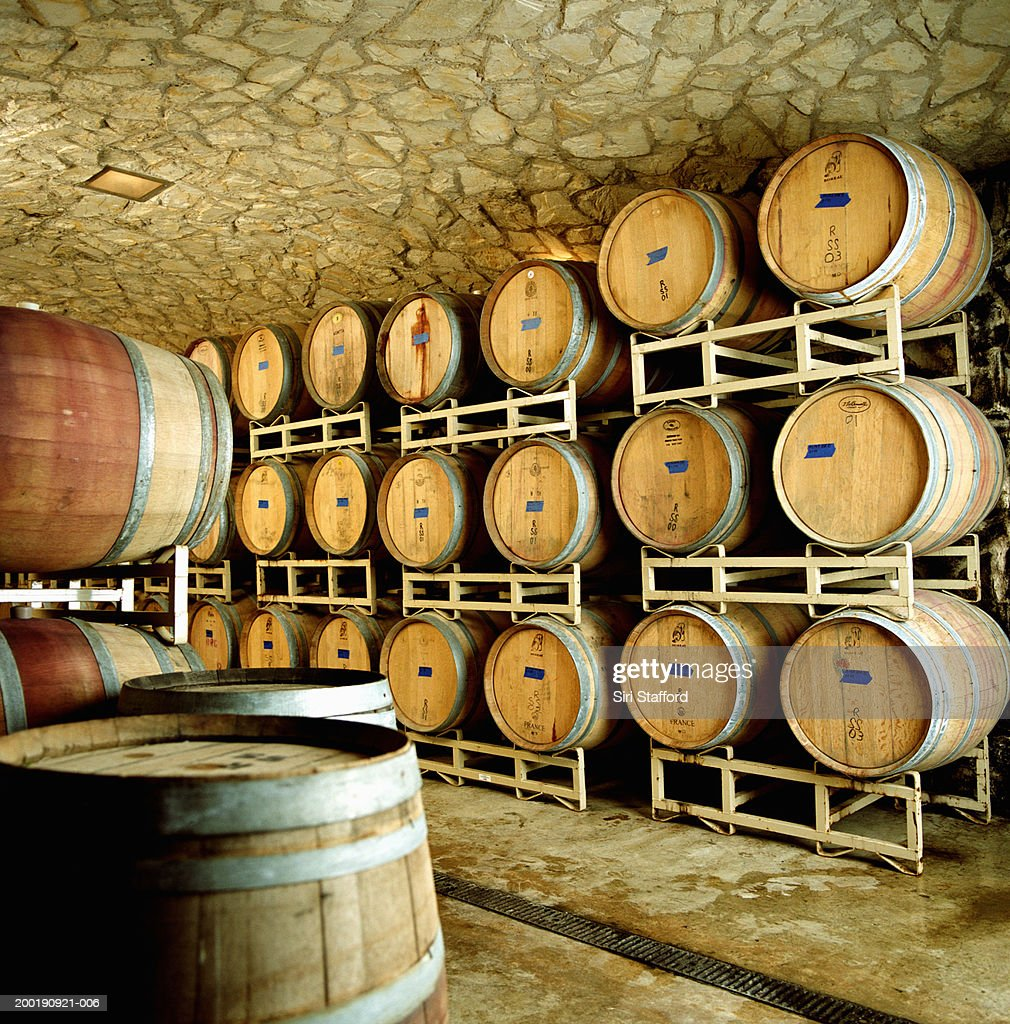 Cellar in winery : Stock Photo
