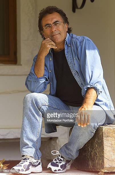 the italian singer Albano Carrisi in art Al Bano posing in his estate in Puglia He is Photographed for TV Sorrisi e Canzoni magazine in 2002 in...