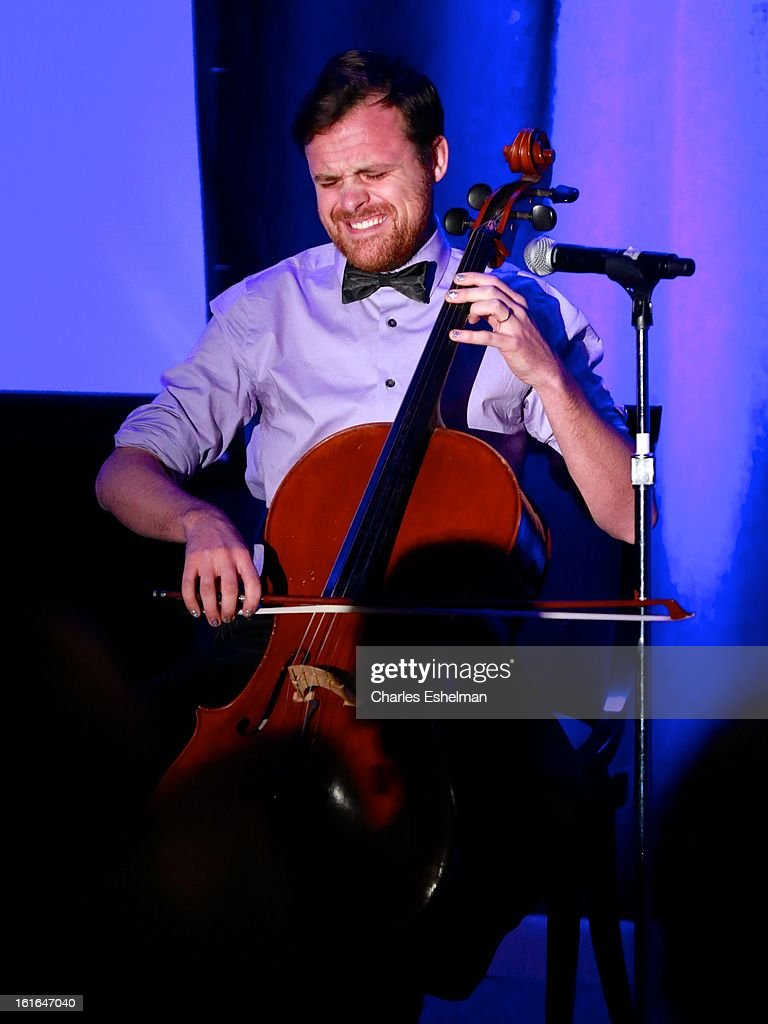 Cellist Ethan Philbrick performs at 19th Annual Dorothy And Lillian Gish Prize Ceremony at The Vista 1 Chase Manhattan Plaza on February 13, 2013 in New York City.