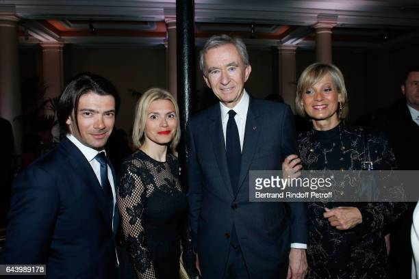 Cellist Gautier Capucon with his wife Delphine and Owner of LVMH Luxury Group Bernard Arnault with his wife pianist Helene Mercier Arnault attend the...