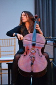 Cellist Maya Beiser performs at American Composers Orchestra 2014 Spring Benefit at Tribeca Rooftop on May 14 2014 in New York City