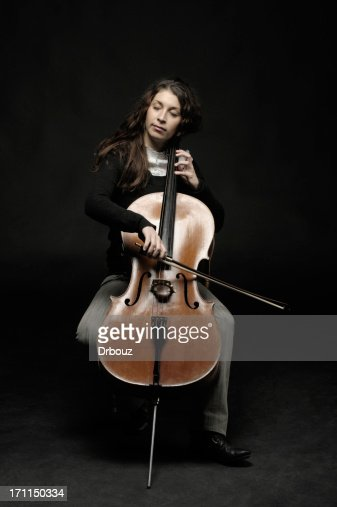 cellist with closed eyes
