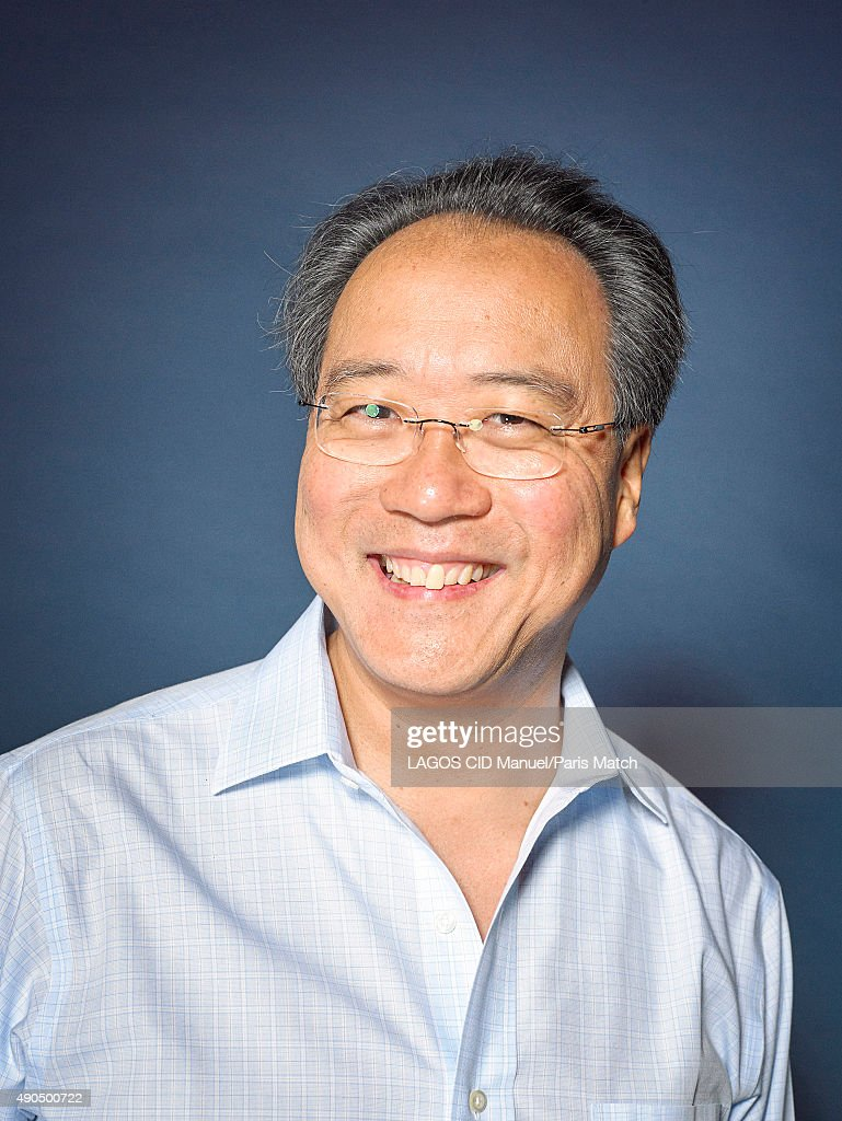 Cellist YoYo Ma is photographed for Paris Match on September 3, 2015 in Paris, France.