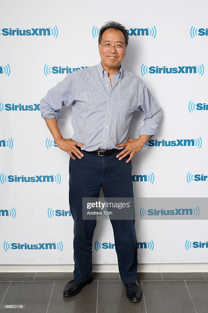 Cellist <a gi-track='captionPersonalityLinkClicked' href=/galleries/search?phrase=Yo-Yo+Ma&family=editorial&specificpeople=235395 ng-click='$event.stopPropagation()'>Yo-Yo Ma</a> visits SiriusXM Studios on September 24, 2015 in New York City.