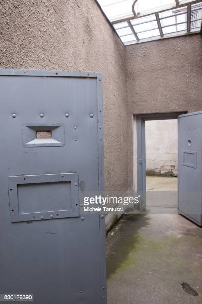 Cells in the former prison of the East German communistera secret police or Stasi at Hohenschoenhausen on August 11 2017 in Berlin Germany The State...