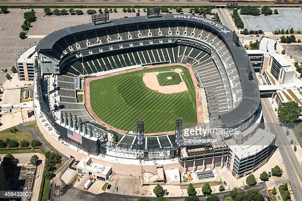 U.S Cellular Field stadium aerial view in chicago