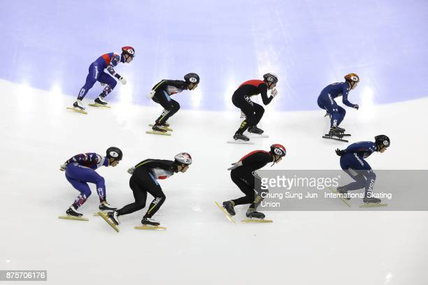R Celski and Keith Carroll of United States Ward Petre and Stijn Desmet of Belgium Kazuki Yoshinaga and Ryosuke Sakazume of Japan and Victor An and...