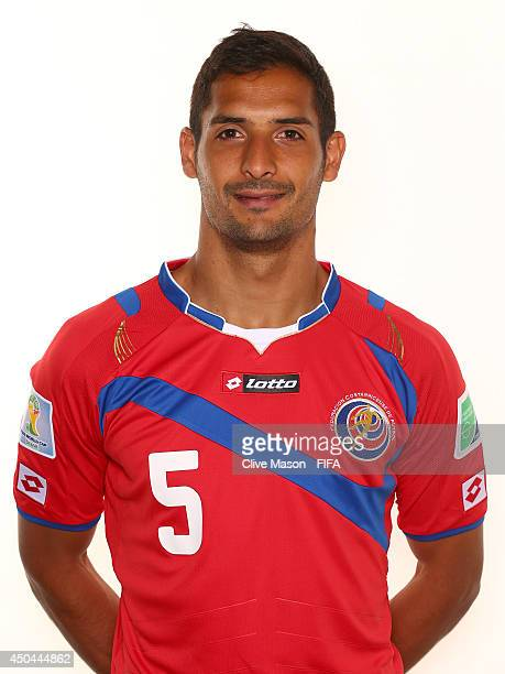 Celso Borges of Costa Rica poses during the official FIFA World Cup 2014 portrait session on June 10 2014 in Sao Paulo Brazil