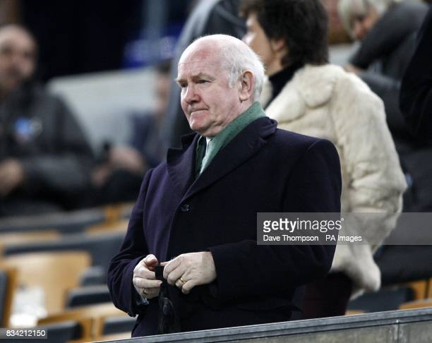 Celtic chairman John Reid observes the match from the stands