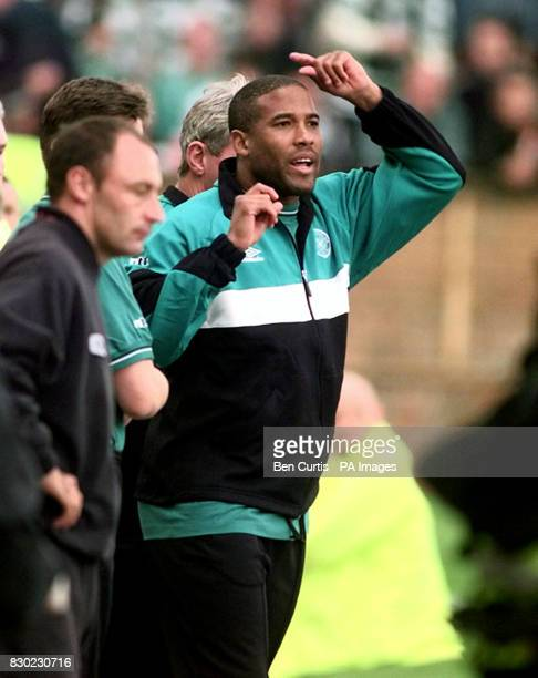 Celtic coach John Barnes cannot believe his luck as the team lose 21 to Dundee Utd at Tannadice Park in Dundee * John Barnes former Liverpool and...