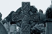Celtic cross grave marker.