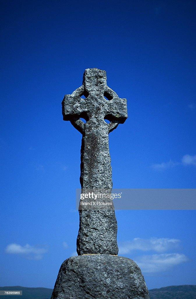 Celtic Cross, Tobermory, Isle Of Mull, Scotland : Foto De Stock
