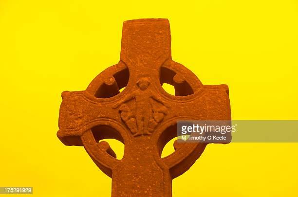 Celtic Cross Yellow Background