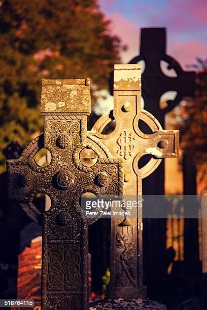 Celtic crosses in Monasterboice Ireland