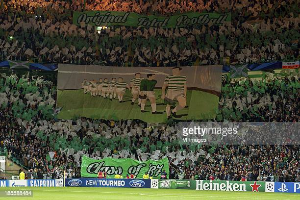 Celtic fans Banner class of 1967 during the Champions League match between Celtic FC and Ajax Amsterdam on October 22 2013 at the Celtic Park in...