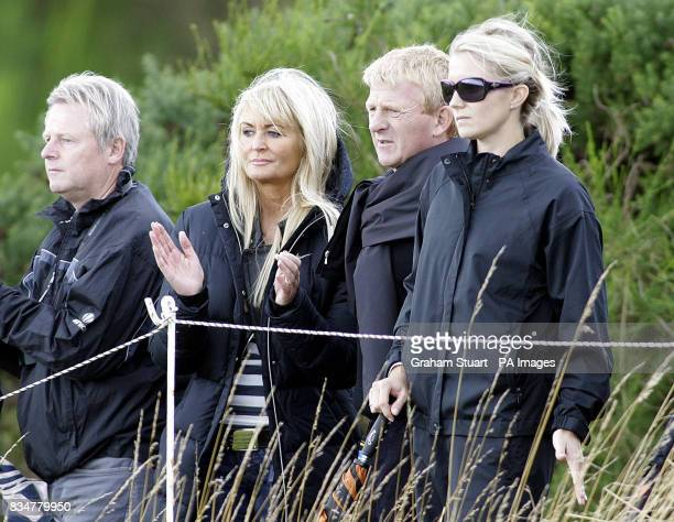 Celtic FC manager Gordon Strachan is an interested spectator during the Johnny Walker Championship at Gleneagles Perthshire