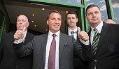 Celtic Football Club unveil their new manager Brendan Rodgers at Celtic Park Glasgow on May 23 2016 in Glasgow Scotland