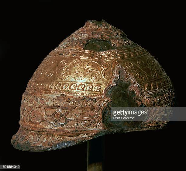 Celtic gold helmet from Amfreville France 4th century BC