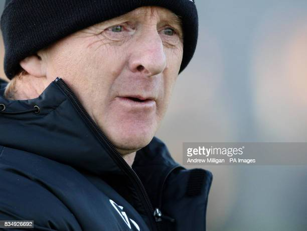 Celtic manager Gordon Strachan during a training session at Lennoxtown Training Complex Scotland