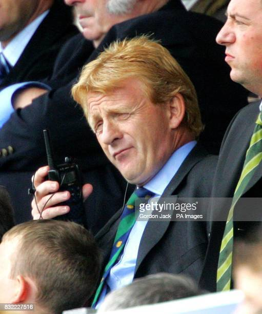 Celtic manager Gordon Strachan in the stands during the Bank of Scotland Premier League match against Inverness at Caledonian Stadium Inverness