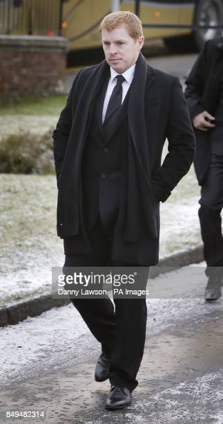 Celtic manager Neil Lennon attends the funeral of former Celtic assistant manager Sean Fallon at Christ the King Church in Glasgow Scotland