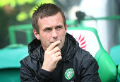 Celtic manager Ronny Delia looks on during the Scottish Premiership League Match between Celtic and Dundee United at Celtic Park on August 16 2014...