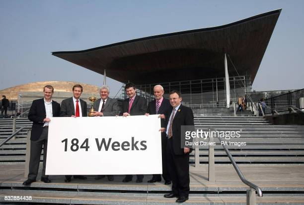 Celtic Manor Chief Executive Dylan Matthews European Tour Chief Executive George O'Grady First Minister Rhodri Morgan Welsh Labour Party member Alun...