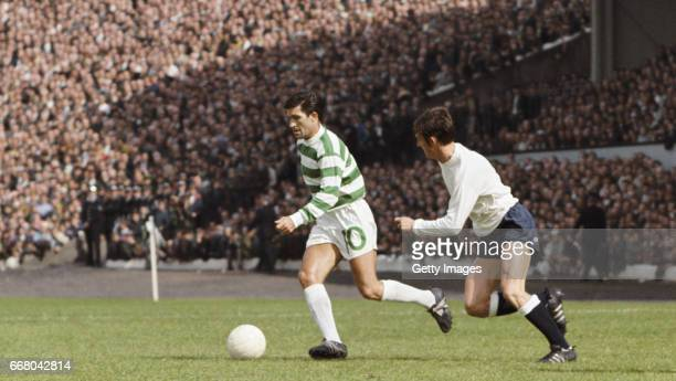 Celtic player Bertie Auld in action during a friendly match against Tottenham Hotspur at Hampden Park on August 5 1967 in Glasgow Scotland