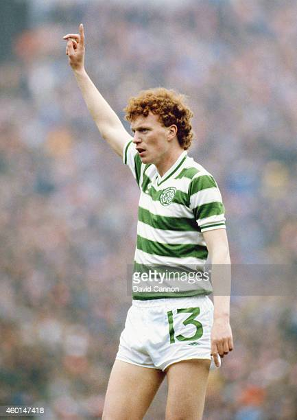 Celtic player David Moyes in action during a match for Glasgow Celtic circa 1983