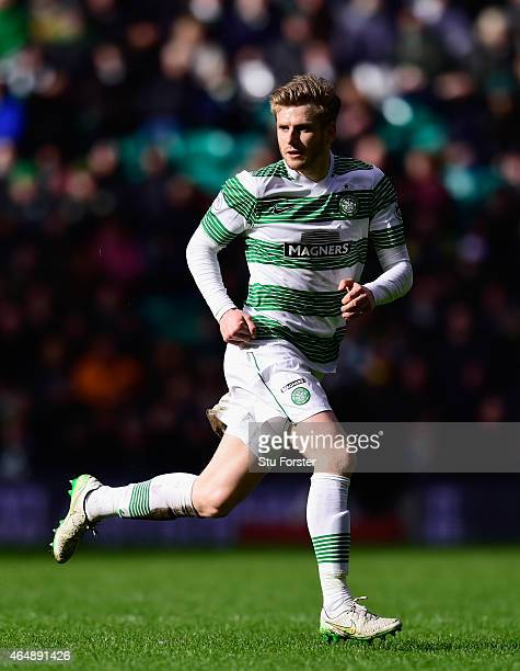 Celtic player Stuart Armstrong in action during the Scottish Premiership match between Celtic and Aberdeen at Celtic Park Stadium on March 1 2015 in...