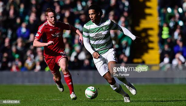 Celtic player Virgil Van Dijk in action during the Scottish Premiership match between Celtic and Aberdeen at Celtic Park Stadium on March 1 2015 in...