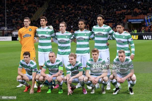 Celtic team group Craig Gordon Nir Biton Stefan Johansen Jason Denayer Virgil van Dijk and Emilio Izaguirre Adam Matthews Scott Brown Gary...