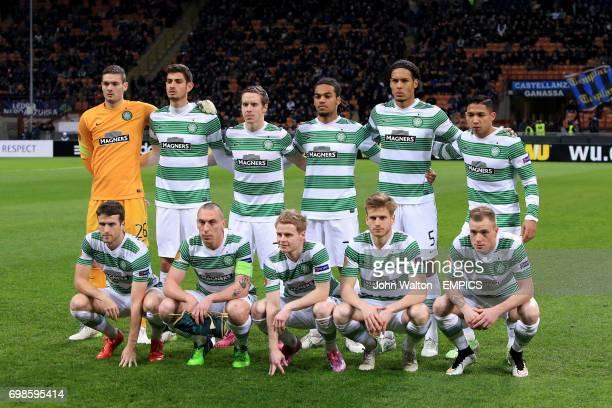 Celtic team group Craig Gordon Nir Bitton Stefan Johansen Jason Denayer Virgil van Dijk and Emilio Izaguirre Adam Matthews Scott Brown Gary...