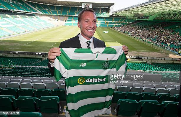 Celtic unveil their new Manager Brendan Rodgers at Celtic Park Glasgow on May 23 2016 in Glasgow Scotland
