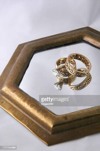Celtic Wedding Rings Reflected