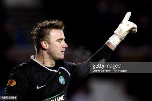 Celtic's Artur Boruc during the Clydesdale Bank Scottish Premier League match at the Rugby Park Kilmarnock