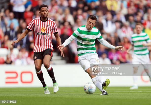 Celtic's Callum McGregor scores his sides second goal during the preseason match at the Stadium of Light Sunderland